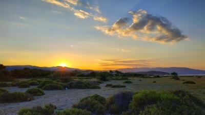 Ierissos - zapad slunce - Recko